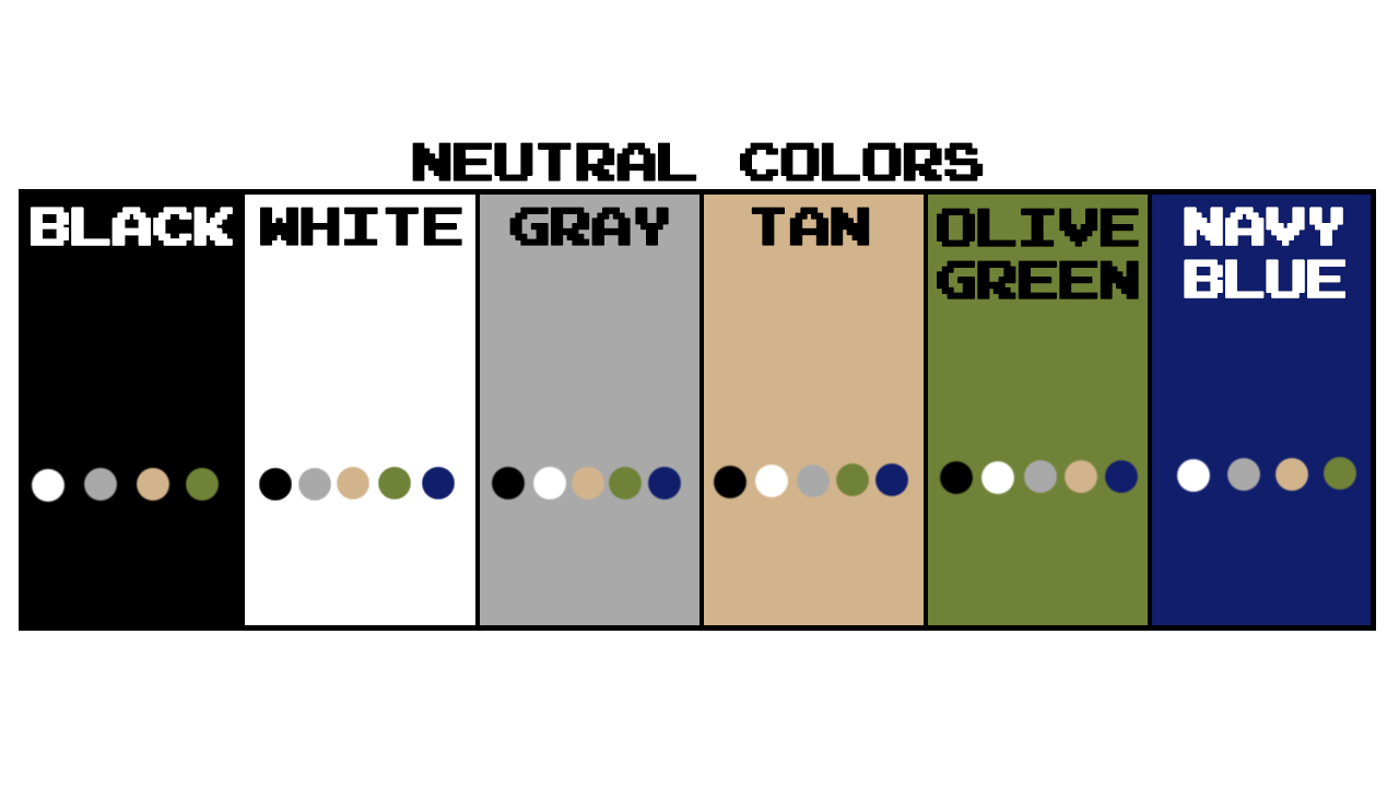 Neutral Colors The Fashion Cheat Code Debonaire Gamer